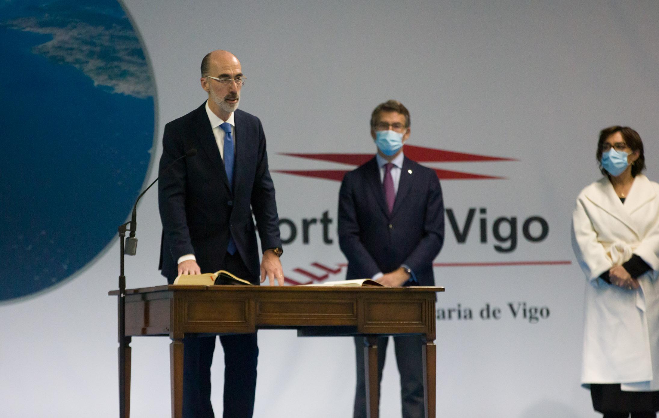 O presidente da Xunta asistiu hoxe á toma de posesión do novo presidente da Autoridade Portuaria de Vigo