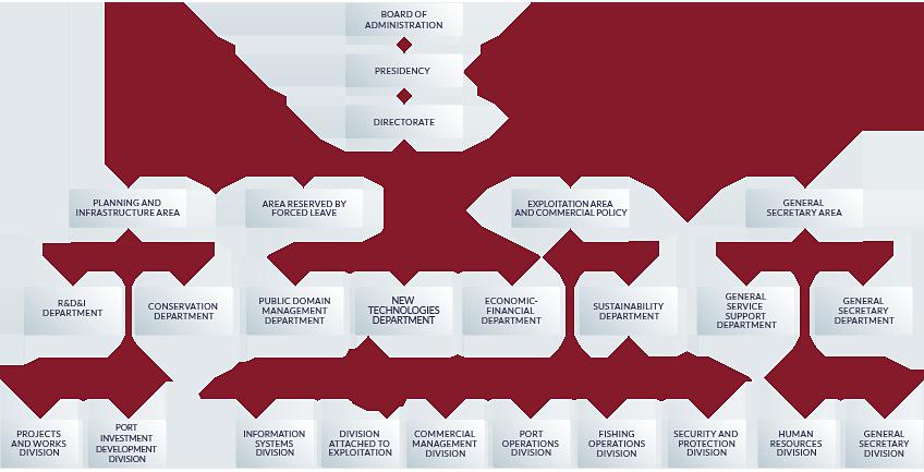 Organization chart of the port authority of vigo