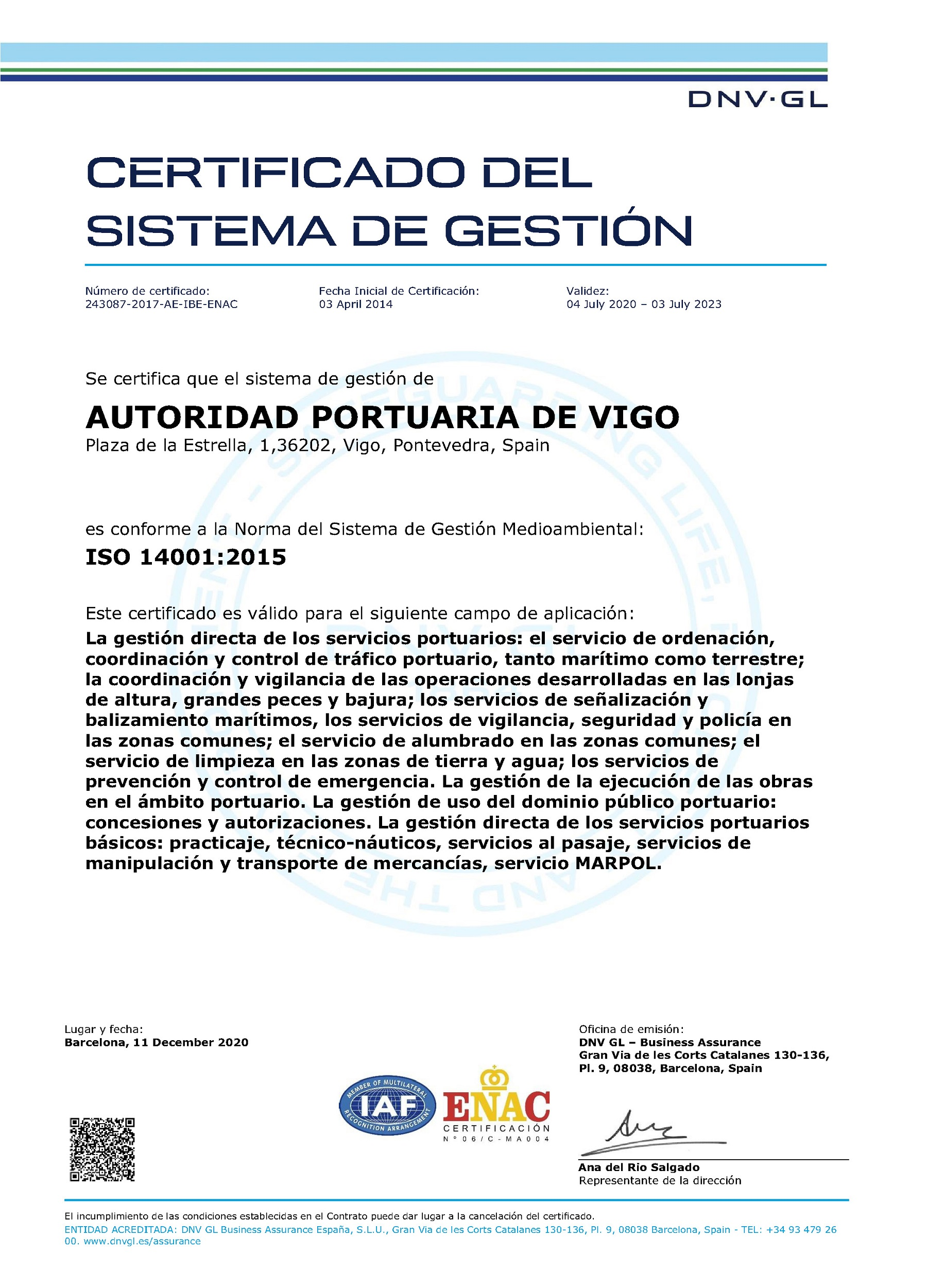 ISO 14001 (2020) spa