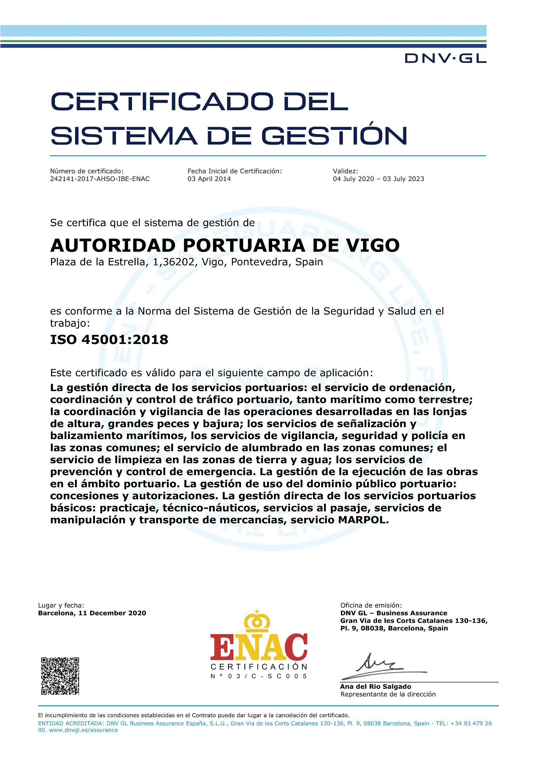 ISO 45001 (2020) spa
