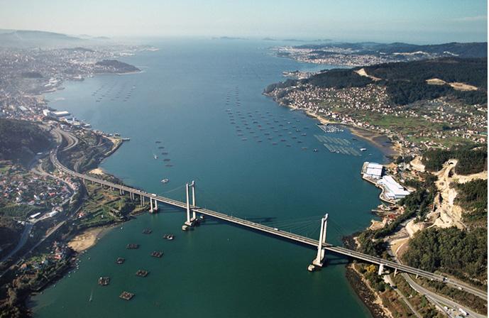 Vista de la ría de Vigo