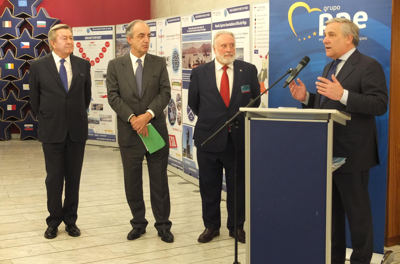 El presidente del Puerto de Vigo presenta en el Parlamento Europeo los resultados de su estrategia de crecimiento azul