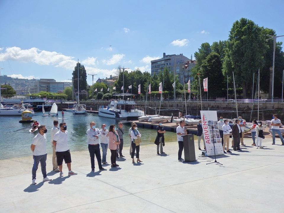 La Asociación Ría de Vigo de Entidades Náuticas (ARIVEN) realiza una presentación pública para celebrar la reactivación de la actividad náutica